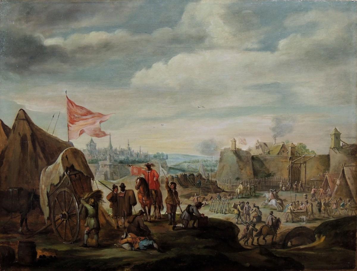 Robert van den Hoecke (1622 – 1668) - Besieged city