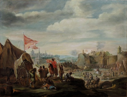 Robert van den Hoecke (1622 – 1668) - Besieged city