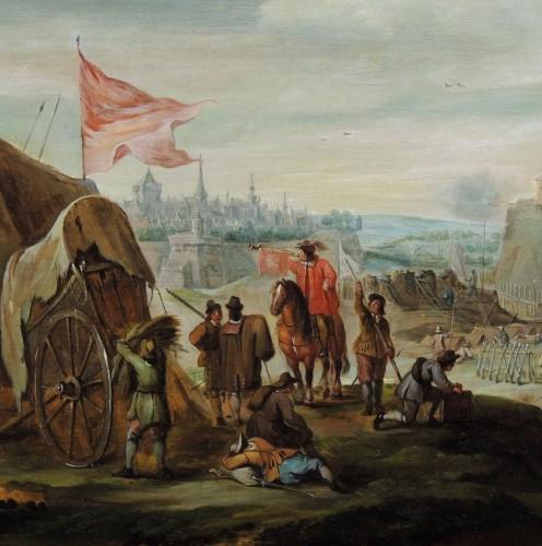 Robert van den Hoecke (1622 – 1668) - Besieged city - Paintings & Drawings Style