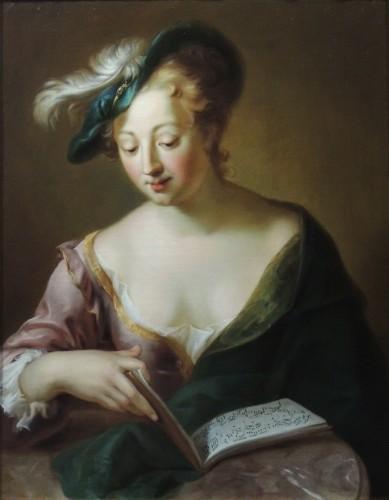 Portrait of a Musician – studio of Charles-Antoine Coypel (1694 – 1752) - Paintings & Drawings Style