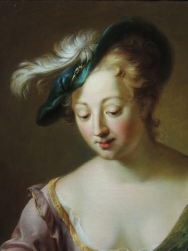 Paintings & Drawings  - Portrait of a Musician – studio of Charles-Antoine Coypel (1694 – 1752)