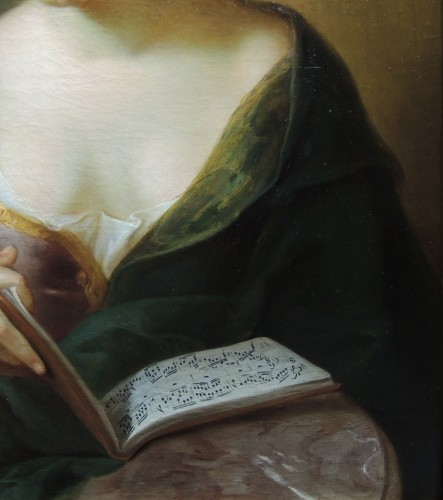 18th century - Portrait of a Musician – studio of Charles-Antoine Coypel (1694 – 1752)