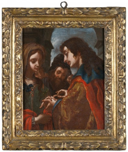 The wedding of Tobit and Sara - Attributed to Jacopo Vignali (1592 - 1664)