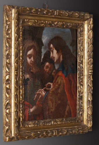 The wedding of Tobit and Sara - Attributed to Jacopo Vignali (1592 - 1664) -