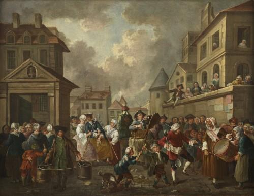 Le Carnaval des rues de Paris - Atelier d'Etienne Jeaurat (1699 - 1789)