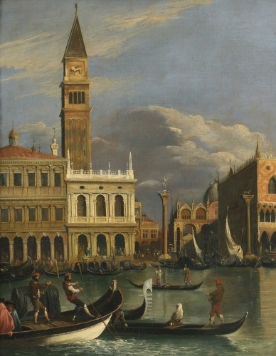 Paintings & Drawings  - Veduta of Venice Molo – Canaletto School – Late 18th century