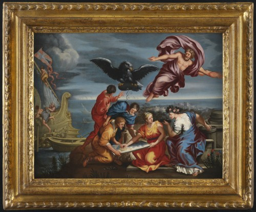 Roman School, 17th century - Allegory of Navigation after Pietro da Cortona