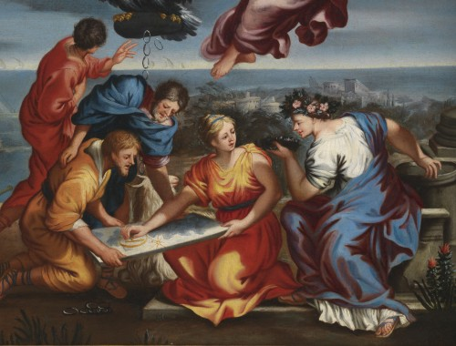 Paintings & Drawings  - Roman School, 17th century - Allegory of Navigation after Pietro da Cortona