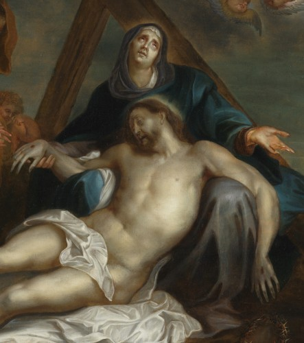 Déploration du Christ – Ecole d'Anton van Dyck 17e siècle - Art & Antiquities Investment