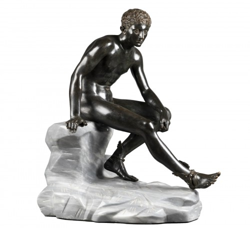Hermès seated after Antiquity - bronze circa 1890