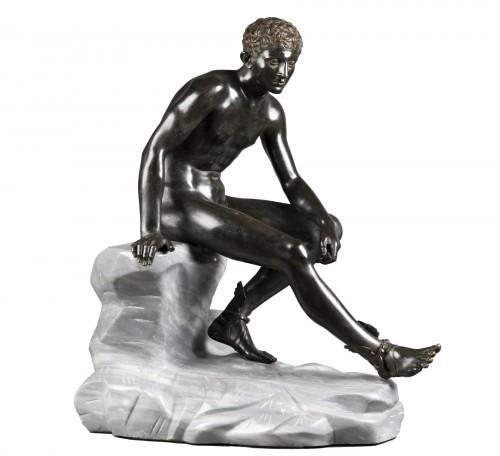 Hermès seated after Antiquity - bronze circa 1890