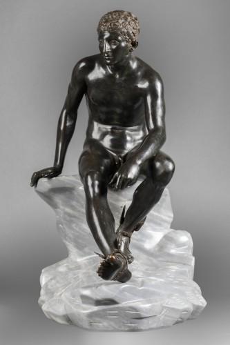 Sculpture  - Hermès seated after Antiquity - bronze circa 1890