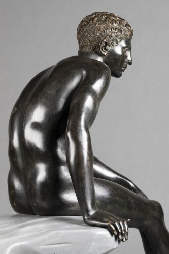 19th century - Hermès seated after Antiquity - bronze circa 1890
