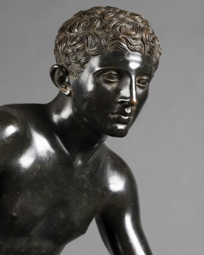 Hermès seated after Antiquity - bronze circa 1890 -