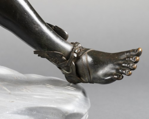 Antiquités - Hermès seated after Antiquity - bronze circa 1890