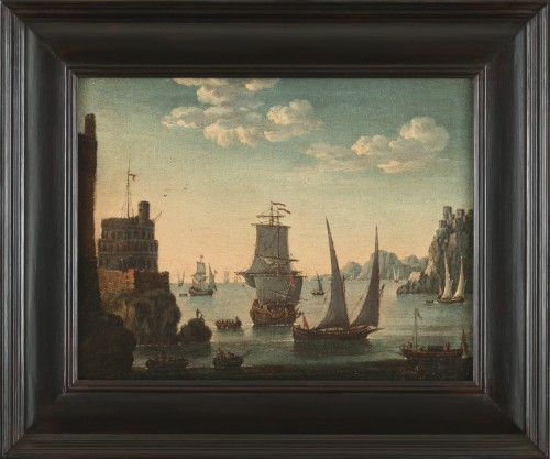 Mediterranean Coastal View - Attributed to Adriaen van der Kabel (1630-1705)