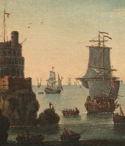Mediterranean Coastal View - Attributed to Adriaen van der Kabel (1630-1705) -