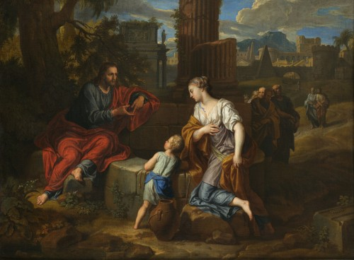Christ and the Samaritan – Michel Corneille the Younger (1642 – 1708) - Paintings & Drawings Style Louis XIV