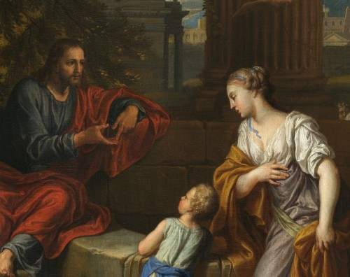 Paintings & Drawings  - Christ and the Samaritan – Michel Corneille the Younger (1642 – 1708)