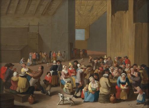 Peasant rejoicing - signed Mattheus van Helmont (1623 - 1679)
