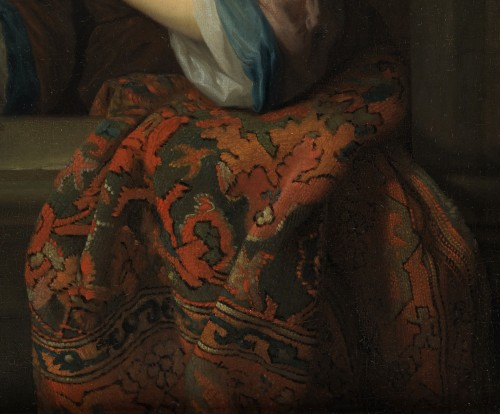 17th century - Lady with a Parrot - Attributed to Godfried Schalcken (1643 - 1706)