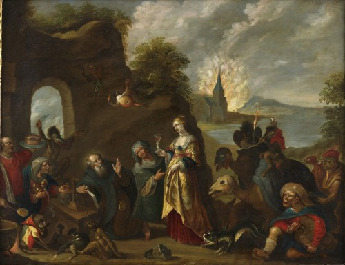 The Temptation of Saint Anthony – Studio of Frans II Francken (1581 – 1641) - Paintings & Drawings Style