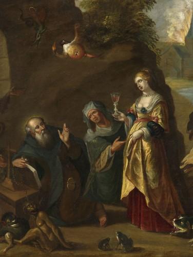 The Temptation of Saint Anthony – Studio of Frans II Francken (1581 – 1641) -