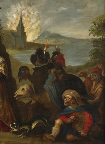 17th century - The Temptation of Saint Anthony – Studio of Frans II Francken (1581 – 1641)