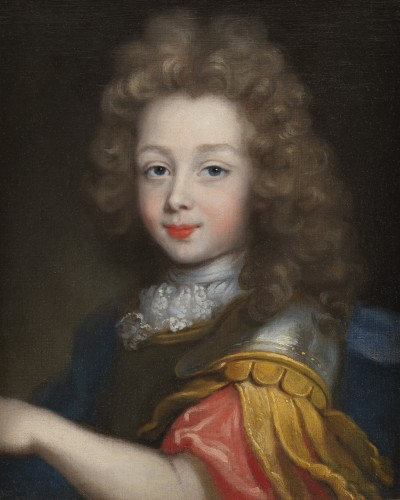 Presumed portrait of the Duke of Maine circa 1680, attributed to Pierre Mignard (1610-1695) - Paintings & Drawings Style Louis XIV