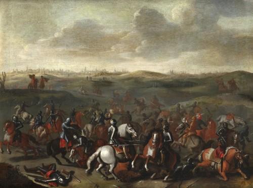 The Battle of Lekkerbeetje – Attributed to Sebastiaen Vrancx (1573 – 1647) - Paintings & Drawings Style