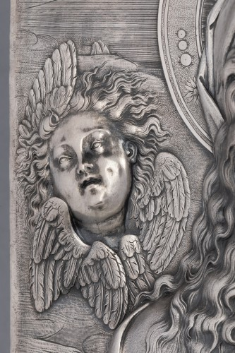Virgin in prayer high relief in silver - A. Pieroni and P. Casali, Lucca 1857 -