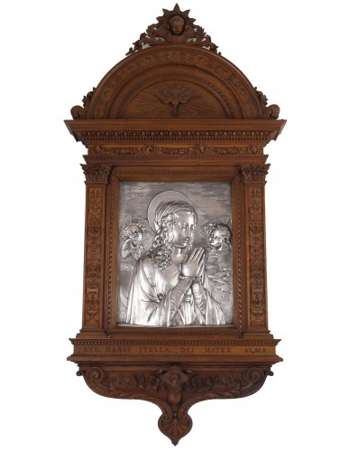 - Virgin in prayer high relief in silver - A. Pieroni and P. Casali, Lucca 1857