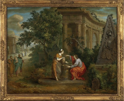 Christ and the Samaritan woman - Frans van Dorne (1776 - 1848) signed and dated 1798
