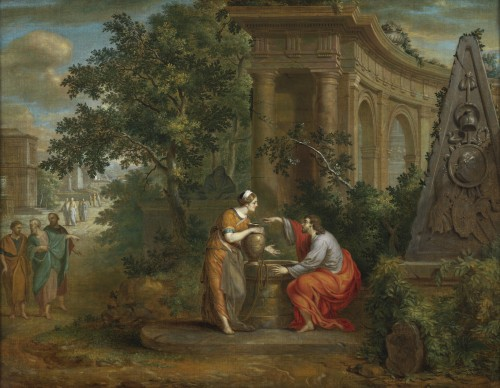 Christ and the Samaritan woman - Frans van Dorne (1776 - 1848) signed and dated 1798 - Paintings & Drawings Style