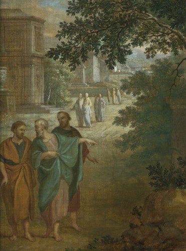 Christ and the Samaritan woman - Frans van Dorne (1776 - 1848) signed and dated 1798 -