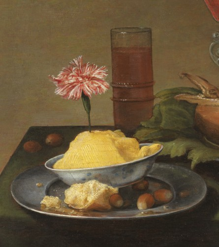 Paintings & Drawings  - Still life with fish and butter - Jacob van Es (1596-1666)