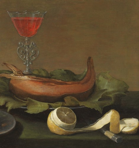 Still life with fish and butter - Jacob van Es (1596-1666) -