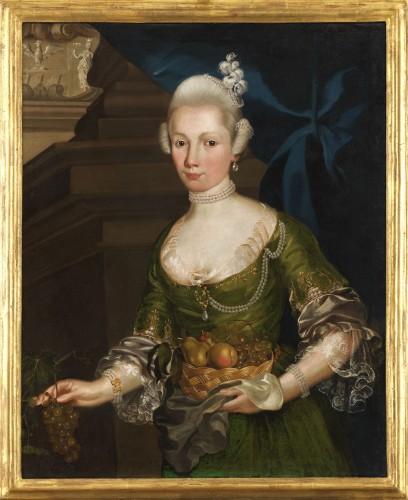 Portrait of a Prussian Princess - Attributed to Anna Rosina de Gasc (1713 - 1783)