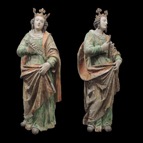 Saint Apollonia - Statue polychromed lime tree - Upper Swabia 16th century