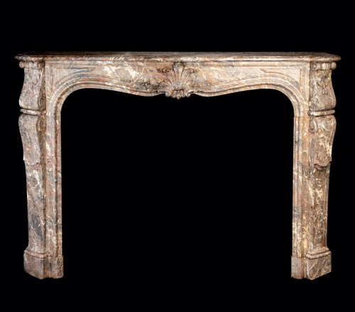 A late 19th century polychrome marble fireplace - Architectural & Garden Style Napoléon III