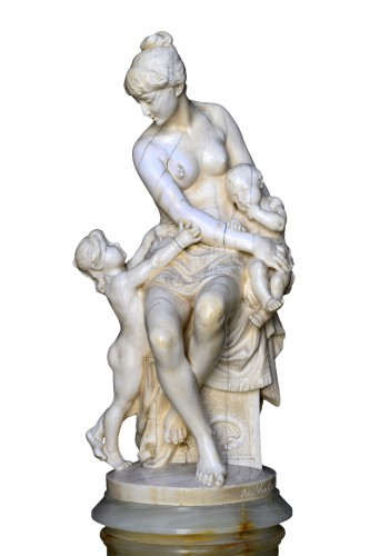 "Ivory Sculpture ""Jealousy"" by Alphonse Van Beurden"