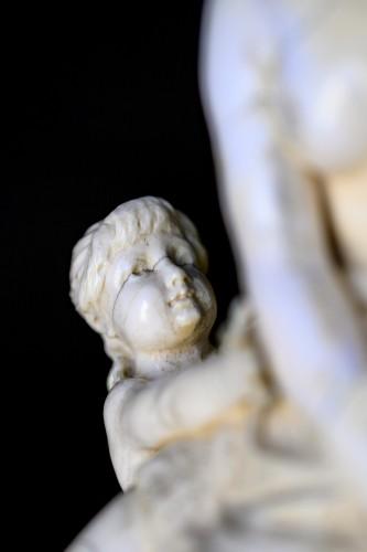 "Ivory Sculpture ""Jealousy"" by Alphonse Van Beurden - Napoléon III"