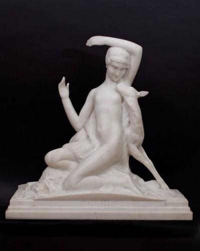 Diana -- Charles-Eugène Breton (1878 - 1968) - Sculpture Style Art Déco