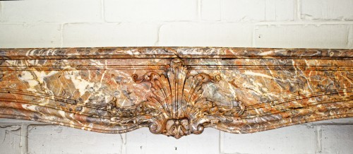 Architectural & Garden  - Large polychrome marble fireplace in Louis XV style