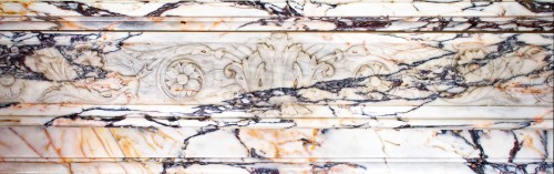 Louis XVI style fireplace in Panazeau marble made in the late 19th century - Napoléon III