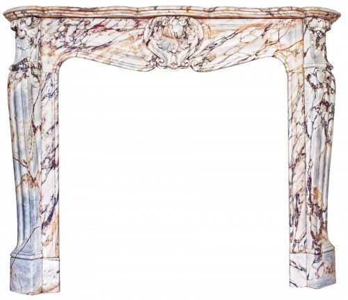 Large Panazeau marble fireplace in the Louis XV style