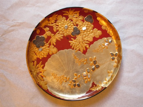 Japanese lacquer plate in the style of the Korin school - Asian Art & Antiques Style