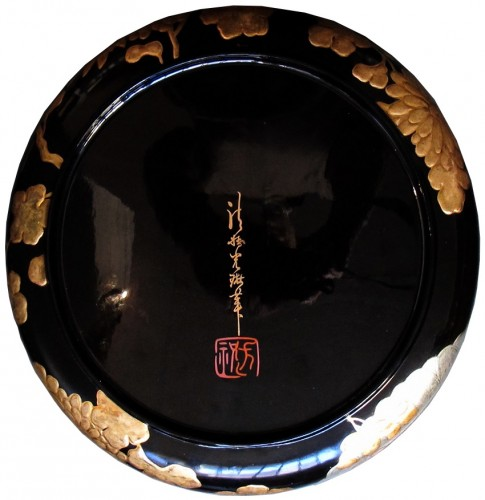Asian Art & Antiques  - Japanese lacquer plate in the style of the Korin school