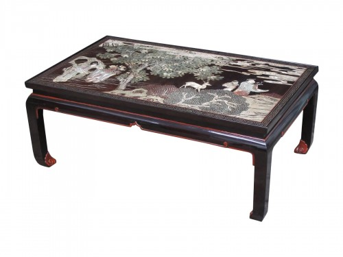 Coromandel lacquer coffee table with a 20th century legs.