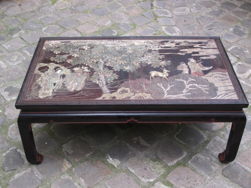 Coromandel lacquer coffee table with a 20th century legs. - Asian Art & Antiques Style